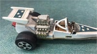 1976 Ideal Evel Knieval Top Fuel Rail Dragster 6""