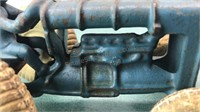 """Antique Cast Metal Tractor Toy 3"""" Tall"""