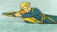 Marx Toys Stamped Metal Infantry Private with