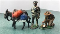 Vintage Metal Figures Arizona Pack Mule Police