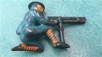 2 Antique WWI Metal Soldiers