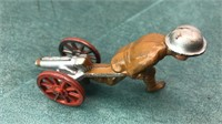 Antique Manoil USA Metal Soldier and Artillery