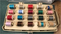 Vintage Plastic Sewing and Thread Boxes plus