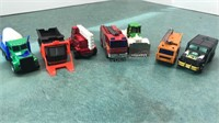 Collection of Matchbox and Hotwheels Work Trucks