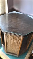 1978 Vintage Handmade Wooden Octagon Table with