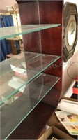 Powell Old English Curio Cabinet with mirrored