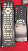 Collection of TV Remotes Panasonic Sylvania