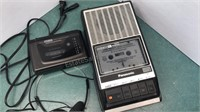 Vintage GE Am/fm Cassette Player and Panasonic
