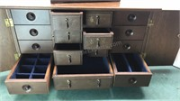 2 Vintage Wood Jewelry Boxes Smaller is music box