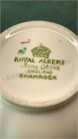 """Royal Albert Bone China """"Shamrock"""" Made in"""