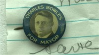 Antique 1929 Charles Bowles For Mayor Campaign