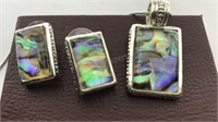 Vintage Jewelry Pierced earrings and pendant and