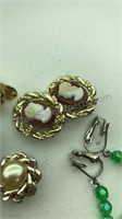 Vintage Krementz 14k Gold Overlay Earrings and