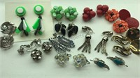 Collection of Vintage Clip On Earrings