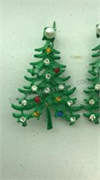 Vintage Holiday Pins and Earrings