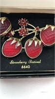 Vintage Sarah Coventry Strawberry Festival 6640