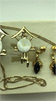 Vintage Jewelry Set Necklace and matching pierced