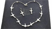 Vintage Jewelry Set Dove Details and Matching