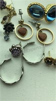 Collection of Vintage Pierced Earrings