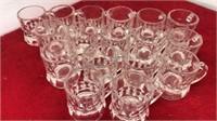 "17 Vintage Glass Mug Style Shot Glasses 2"" Talk"