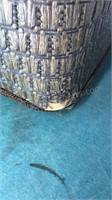 Vintage Hinged Top Wood / Woven Clothes Hamper