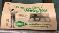 Vintage Diamond Tool Outdoor Steel Horseshoe Set