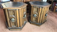 2 Mersman 54-24  Vintage Wooden Side tables with