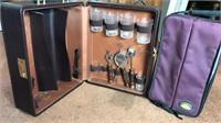 Vintage Travel Bar and Wine Carrier