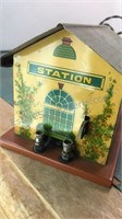 Antique Stamped Metal Train Transformer with