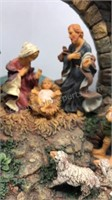 "Nativity Scene Resin Cast 8"" Tall 11"" Wide Made"