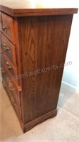 Vintage Broyhill Wooden Tall Dresser 5 Drawers