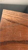 Vintage Wooden Tall Dresser 5 Drawers Brass