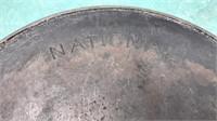 "Antique National Cast Iron Skillet ""9 B"" 11"""