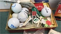 Containers of Unsorted Golf Tees and Collection