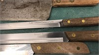 Collection of Vintage Wood Handled Kitchen Knives