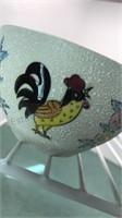 Vintage Japanese Rooster Design Cream and Sugar