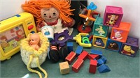 Collection of Baby Toys Including Vintage Disney
