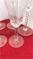 7pcs Glass Champagne Flutes