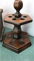 Vintage Decorative Wooden Items Pipe Rack Snack