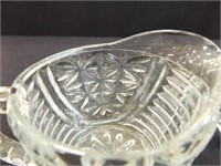 Glass Relish Dish, Cream & Sugar, Crystal Basket