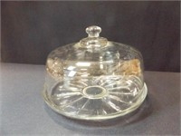 Clear Glass Cake Stand, Dome