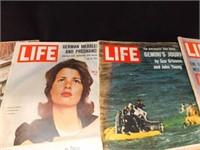 Magazines- Life 1962, 1964 (9), 1965 (2)