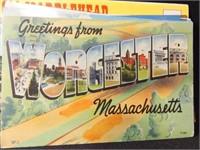 Postcards, New Jersey, Maine, Massachusetts,