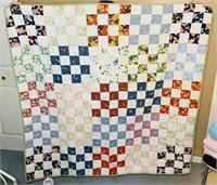 """Handmade quilt, 4' 7"""" x 4' 3"""""""