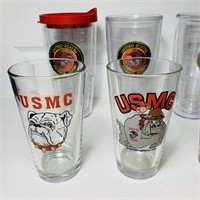US Marine Corps lots of Glasses/Cups