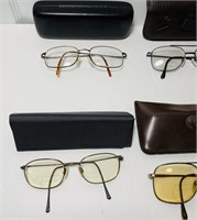7 Men's Glasses with Cases