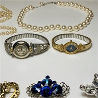 Women's Watches, Brouches, Necklaces