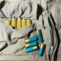 Hunting Vest with 12 gauge Shells in the Pockets,