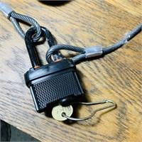 Bike Lock w/Key, Gel Cover Bike Seat