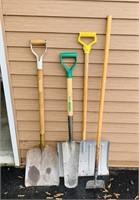 3 Shovels and a Scraper